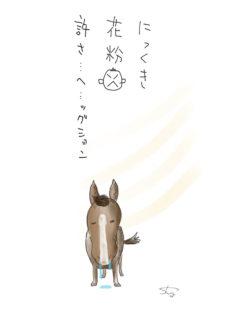 花粉症の馬