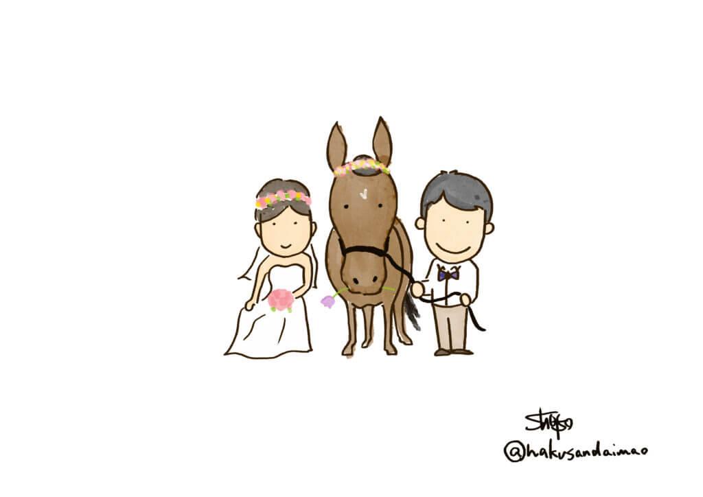 馬との前撮り